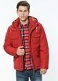 Lee Kapüşonlu Mont Kırmızı